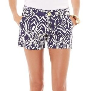 LILLY PULITZER Shorts Callahan Navy Entourage 12